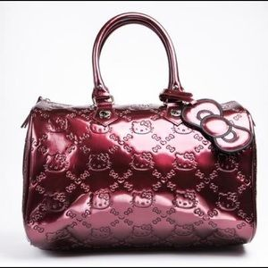 Loungefly Hello Kitty Embossed Bag In Burgundy